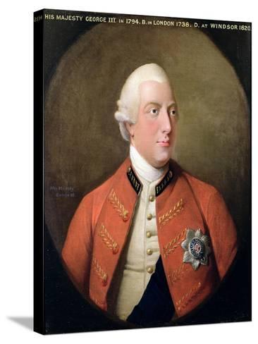 Portrait of George III (1738-1820) 1794-David Dodd-Stretched Canvas Print