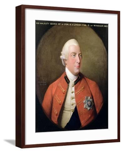 Portrait of George III (1738-1820) 1794-David Dodd-Framed Art Print