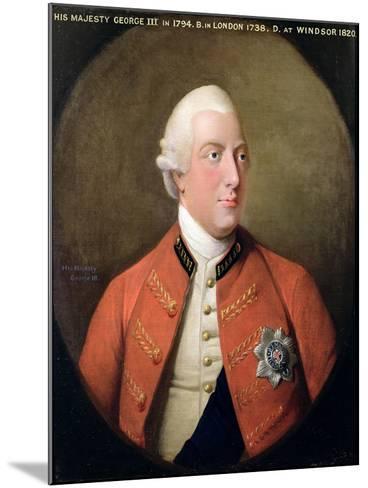 Portrait of George III (1738-1820) 1794-David Dodd-Mounted Giclee Print
