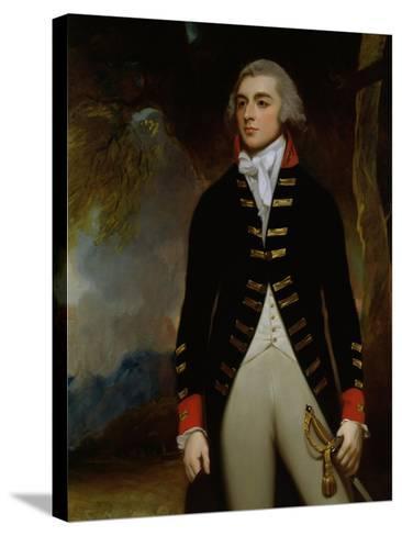Portrait of John Richard West (1758-95) 4th Earl De La Warr, 1790-George Romney-Stretched Canvas Print