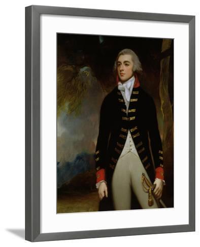 Portrait of John Richard West (1758-95) 4th Earl De La Warr, 1790-George Romney-Framed Art Print