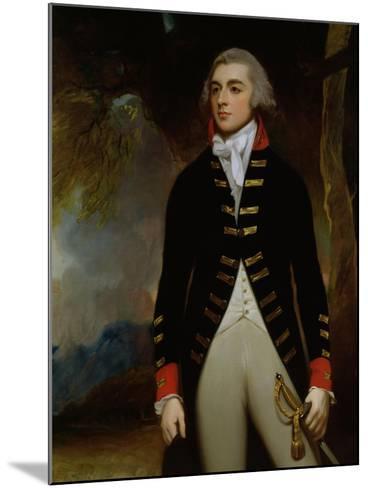 Portrait of John Richard West (1758-95) 4th Earl De La Warr, 1790-George Romney-Mounted Giclee Print