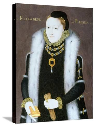 Portrait of Queen Elizabeth I (1533-1603) C.1558--Stretched Canvas Print