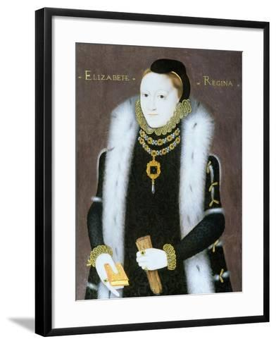 Portrait of Queen Elizabeth I (1533-1603) C.1558--Framed Art Print