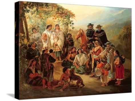 Regional Costumes, 1850-Johann Moritz Rugendas-Stretched Canvas Print