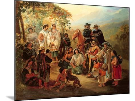 Regional Costumes, 1850-Johann Moritz Rugendas-Mounted Giclee Print