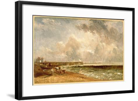 Yarmouth Jetty, C.1822-John Constable-Framed Art Print