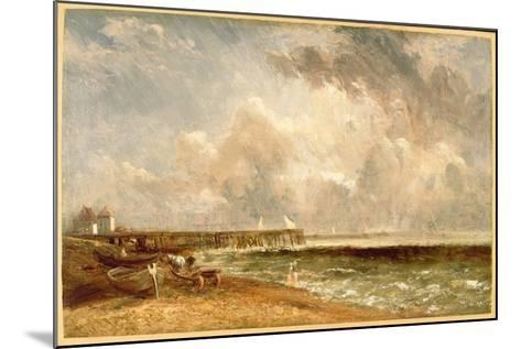 Yarmouth Jetty, C.1822-John Constable-Mounted Giclee Print