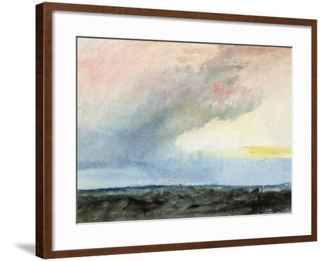 A Rainstorm at Sea-J^ M^ W^ Turner-Framed Art Print