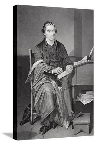 Portrait of Patrick Henry (1736-99)-Alonzo Chappel-Stretched Canvas Print