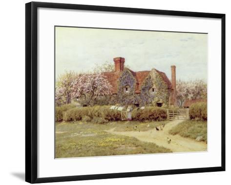 A Buckinghamshire House at Penstreet-Helen Allingham-Framed Art Print