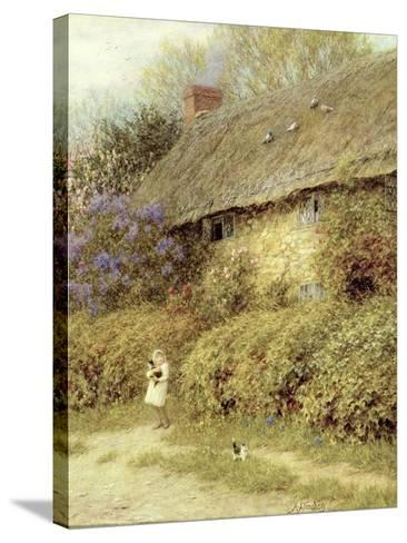Old Cottage at Freshwater, Isle of Wight-Helen Allingham-Stretched Canvas Print
