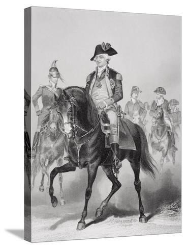 Portrait of Frederick William (1730-94) Baron Von Steuben-Alonzo Chappel-Stretched Canvas Print
