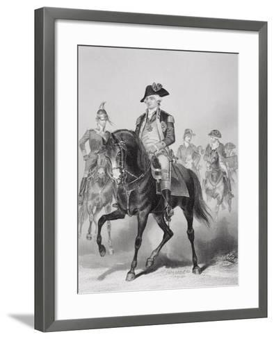 Portrait of Frederick William (1730-94) Baron Von Steuben-Alonzo Chappel-Framed Art Print