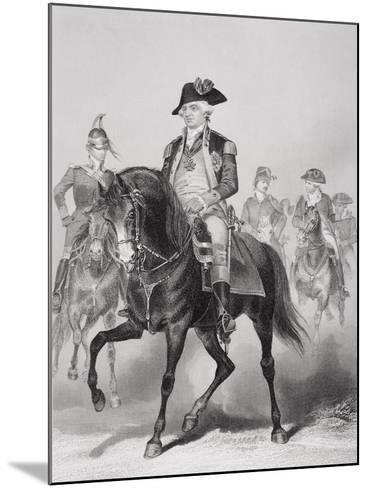 Portrait of Frederick William (1730-94) Baron Von Steuben-Alonzo Chappel-Mounted Giclee Print