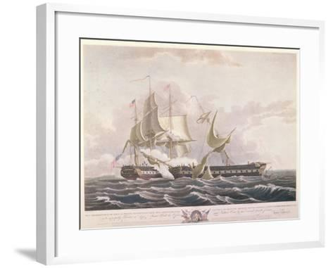 The Battle Between the Uss Constitution and the Hms Guerriere-Thomas Birch-Framed Art Print