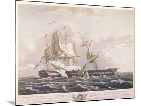 The Battle Between the Uss Constitution and the Hms Guerriere-Thomas Birch-Mounted Giclee Print