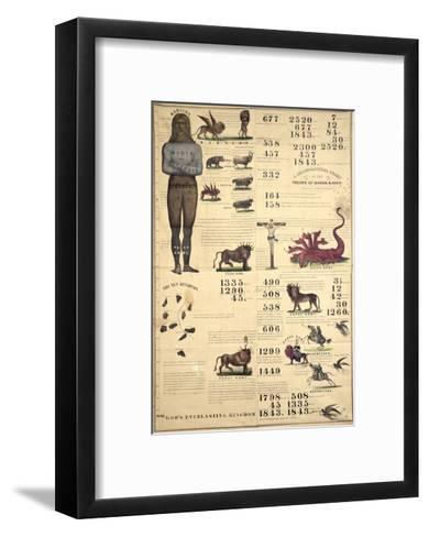 Chronological Chart of the Visions of Daniel and John, 1843--Framed Art Print