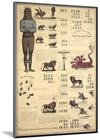 Chronological Chart of the Visions of Daniel and John, 1843--Mounted Giclee Print