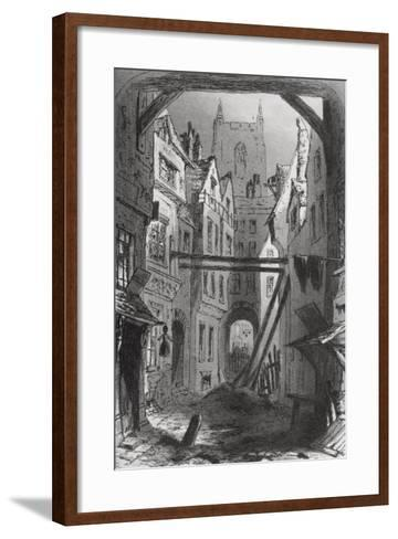 Tom All Alone's, Illustration from 'Bleak House' by Charles Dickens (1812-70) Published 1853-Hablot Knight Browne-Framed Art Print