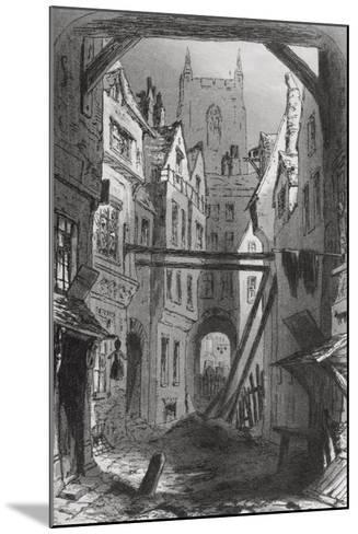 Tom All Alone's, Illustration from 'Bleak House' by Charles Dickens (1812-70) Published 1853-Hablot Knight Browne-Mounted Giclee Print