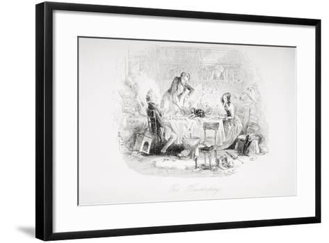 Our Housekeeping, Illustration from 'David Copperfield' by Charles Dickens (1812-70) First?-Hablot Knight Browne-Framed Art Print