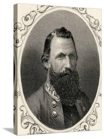 Portrait of Major-General J.E.B. Stuart (1833-64)--Stretched Canvas Print