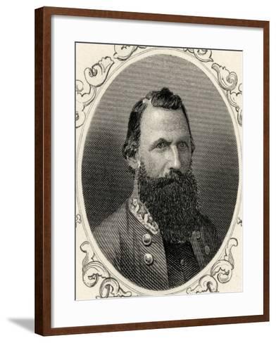 Portrait of Major-General J.E.B. Stuart (1833-64)--Framed Art Print