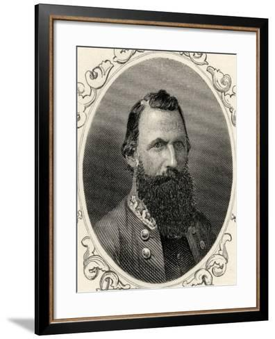 Portrait of Major-General J.E.B. Stuart (1833-64)--Framed Art Print