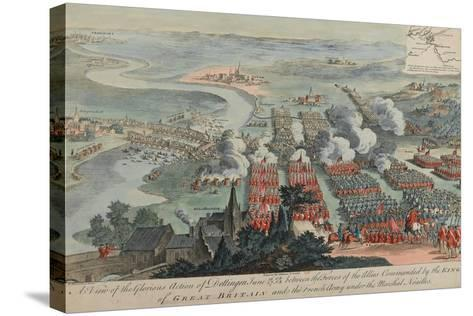 A View of the Glorious Action of Dettingen, 16th-27th June 1743, Engraved by I. Pano, Published…-F. Daremberg-Stretched Canvas Print