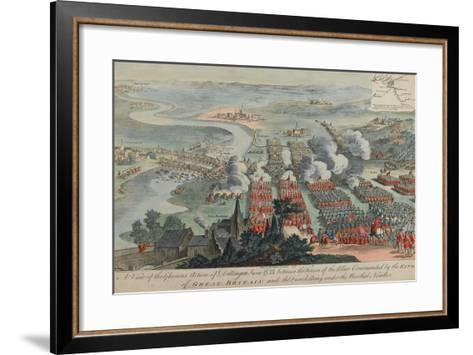 A View of the Glorious Action of Dettingen, 16th-27th June 1743, Engraved by I. Pano, Published…-F. Daremberg-Framed Art Print