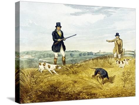 Gun and Loader, Plate from 'Partridge Shooting', Engraved by Joseph Clayton Bentley (1809-51) 1794-Henry Thomas Alken-Stretched Canvas Print