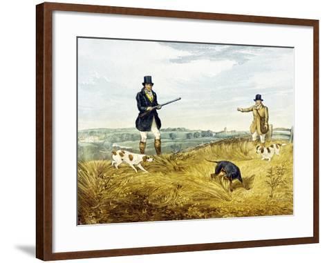 Gun and Loader, Plate from 'Partridge Shooting', Engraved by Joseph Clayton Bentley (1809-51) 1794-Henry Thomas Alken-Framed Art Print