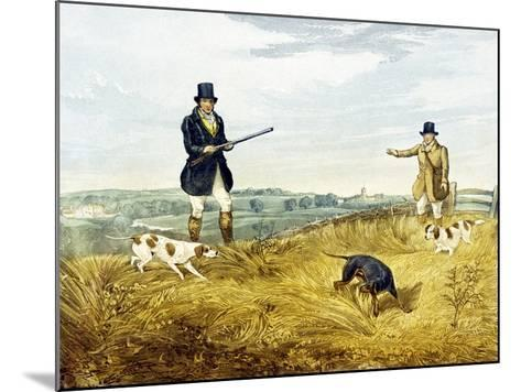 Gun and Loader, Plate from 'Partridge Shooting', Engraved by Joseph Clayton Bentley (1809-51) 1794-Henry Thomas Alken-Mounted Giclee Print