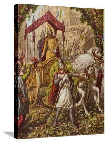 Emmanuel's Second Entry into Mansoul, Illustration from 'The Holy War' by John Bunyan (1628-88)--Stretched Canvas Print