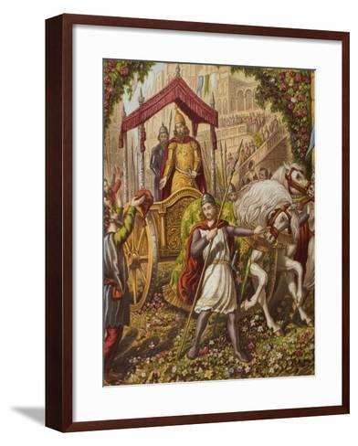 Emmanuel's Second Entry into Mansoul, Illustration from 'The Holy War' by John Bunyan (1628-88)--Framed Art Print