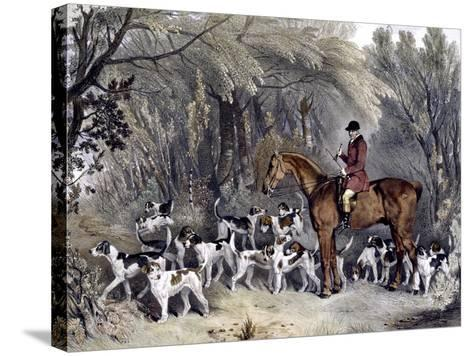 W. Head, Huntsman to the Donnington Hounds, Engraved by J.W. Giles (1801-70) 1837-Richard Barrett Davis-Stretched Canvas Print