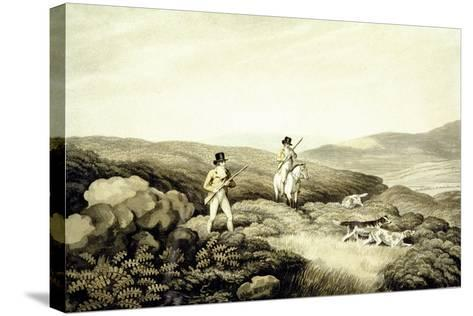 Grouse Shooting, from 'Ormes Collection of British Fieldsports', Engraved by J. Godby and H.…-Samuel Howitt-Stretched Canvas Print