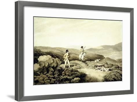 Grouse Shooting, from 'Ormes Collection of British Fieldsports', Engraved by J. Godby and H.…-Samuel Howitt-Framed Art Print