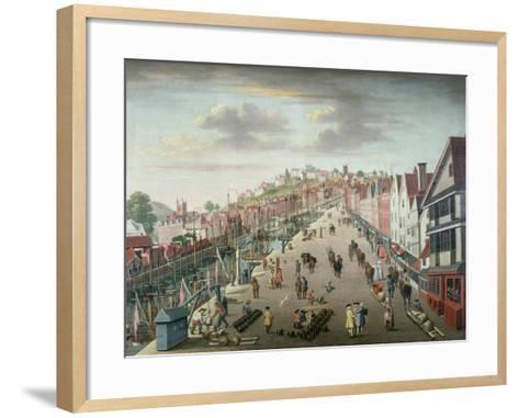 Bristol Docks and Quay, C.1760--Framed Art Print