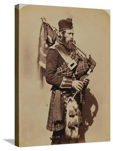 Pipe-Major Macdonald, 72nd (Duke of Albany's Own Highlanders) Regiment of Foot- Joseph Cundall and Robert Howlett-Stretched Canvas Print