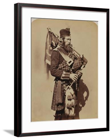 Pipe-Major Macdonald, 72nd (Duke of Albany's Own Highlanders) Regiment of Foot- Joseph Cundall and Robert Howlett-Framed Art Print
