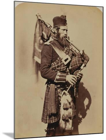 Pipe-Major Macdonald, 72nd (Duke of Albany's Own Highlanders) Regiment of Foot- Joseph Cundall and Robert Howlett-Mounted Photographic Print