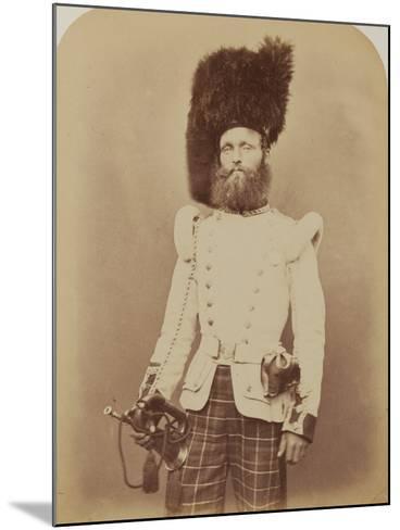 Drummer John Rennie, 72nd (Duke of Albany's Own Highlanders) Regiment of Foot- Joseph Cundall and Robert Howlett-Mounted Photographic Print