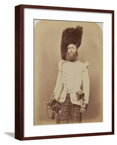 Drummer John Rennie, 72nd (Duke of Albany's Own Highlanders) Regiment of Foot- Joseph Cundall and Robert Howlett-Framed Art Print