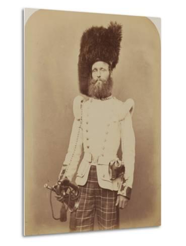 Drummer John Rennie, 72nd (Duke of Albany's Own Highlanders) Regiment of Foot- Joseph Cundall and Robert Howlett-Metal Print