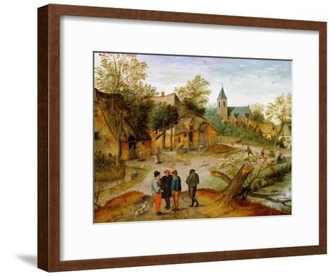A Village Landscape with Farmers, 1634-Pieter Brueghel the Younger-Framed Art Print