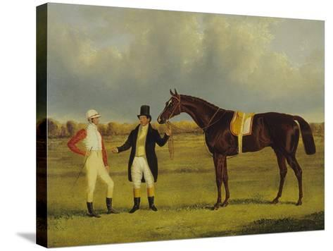 'Euclid' with His Jockey Conolly and Trainer Pettit-John Frederick Herring I-Stretched Canvas Print