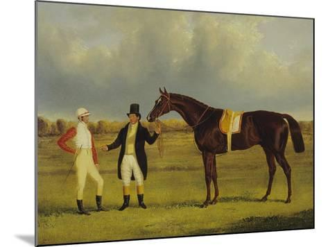 'Euclid' with His Jockey Conolly and Trainer Pettit-John Frederick Herring I-Mounted Giclee Print