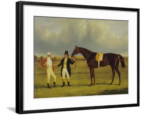'Euclid' with His Jockey Conolly and Trainer Pettit-John Frederick Herring I-Framed Art Print